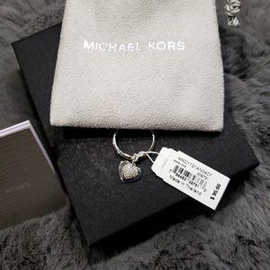 Michael Kors pave heart charm Precious metal